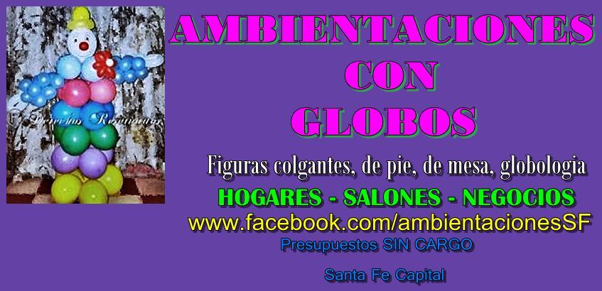 Ambientaciones con Globos