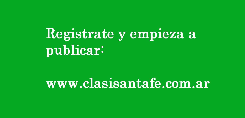 REGISTRATE Y PUBLICA GRATIS EN CLASIFICADOS SANTA FE