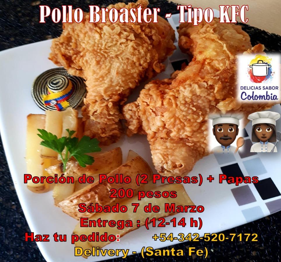 Delicioso Pollo Broaster Colombiano