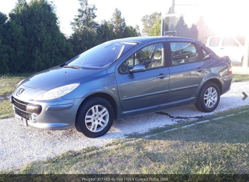 Vendo Peugeot 307 HDI 4p Full 110CV Cuero / Techo 2008